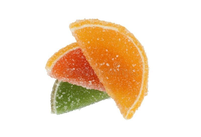 Fruit glacé coloré (dragée) image libre de droits