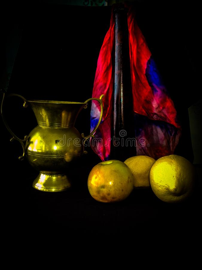 Fruit and goblet stock photography