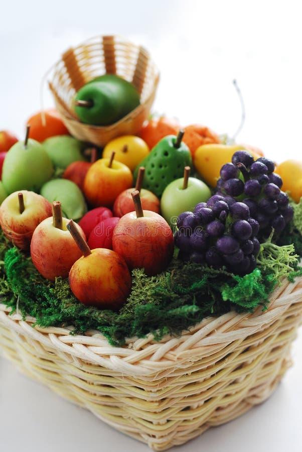 Fruit handcraft. Fruit basket handcraft bread clay stock photos