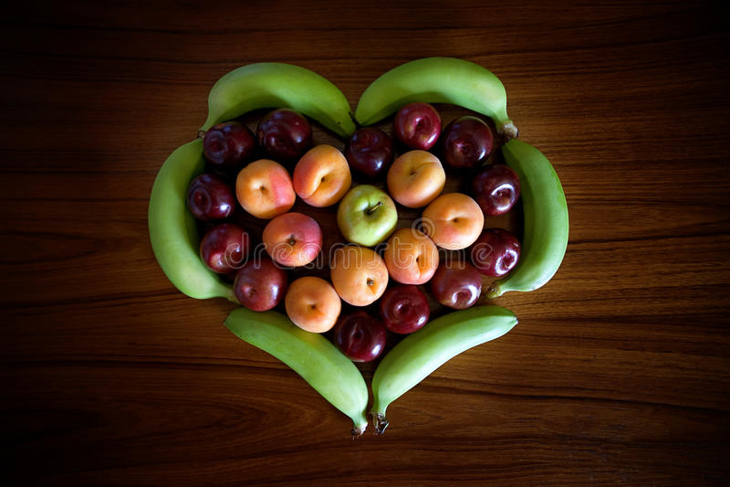 Fruit Heart stock photo
