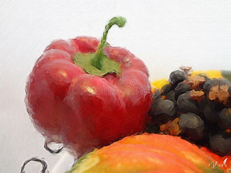 Fruit het schilderen royalty-vrije stock fotografie