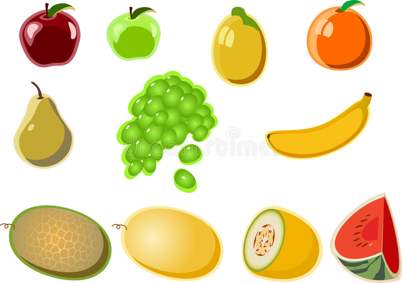 Fruit_icon stock illustratie