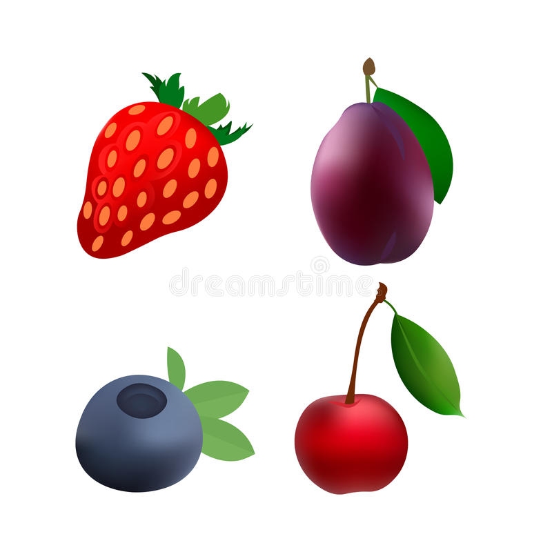 Fruit icon power royalty free stock photography