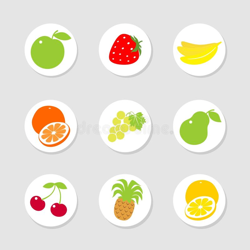 Download Fruit icons stock vector. Image of image, berry, fruit - 9800909