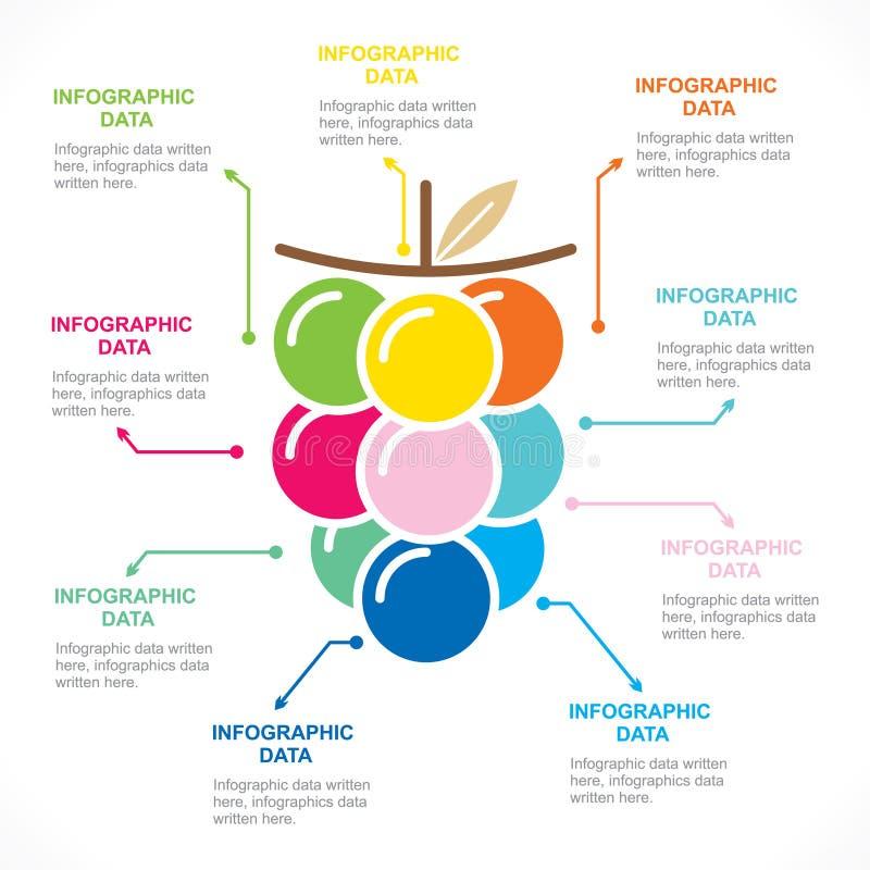 Fruit informatie-grafiek conceptontwerp royalty-vrije illustratie