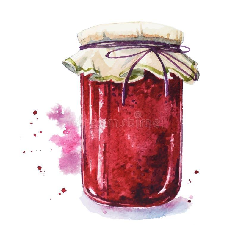 Free Fruit Jam. Mason Jar Stock Image - 54086961