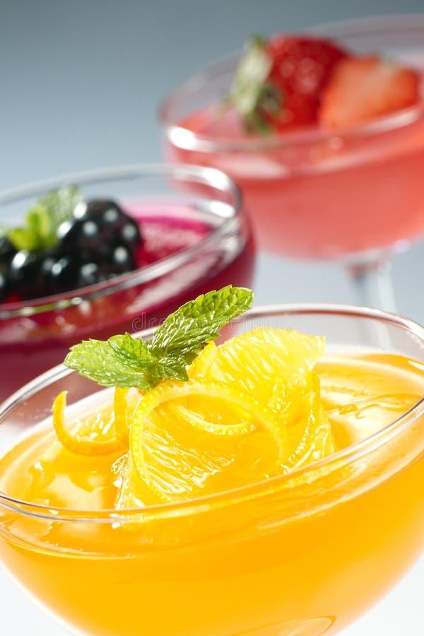 Fruit jelly stock image