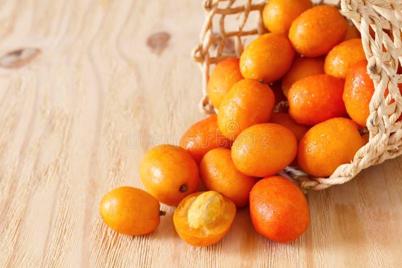 Fruit Jocote (Rode Mombin, Purpere Mombin, Varkenspruim, Ciruela Huesi royalty-vrije stock fotografie