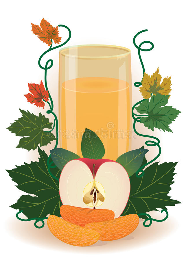 Fruit juice stock illustration