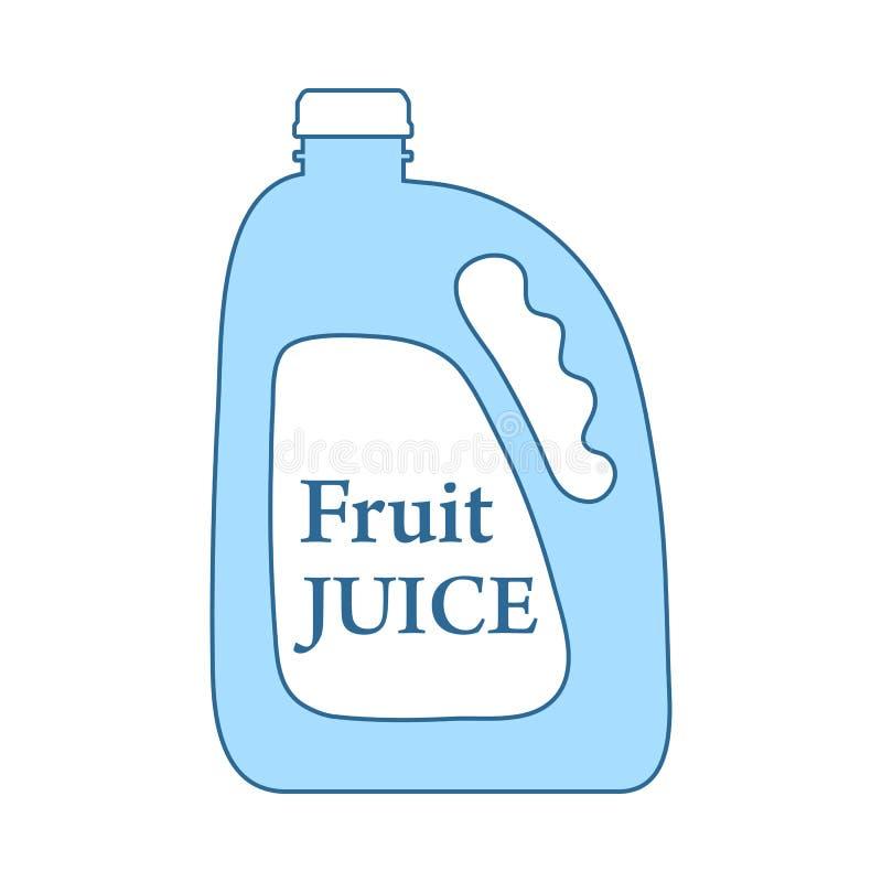 Fruit Juice Canister Icon royalty free illustration