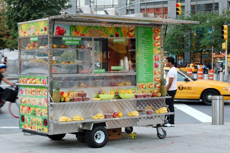 Fruit Juice Cart at Columbus Circle, New York City royalty free stock photos