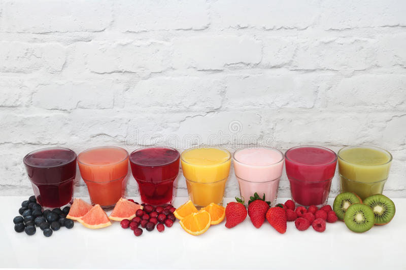 Fruit Juice Drinks images stock