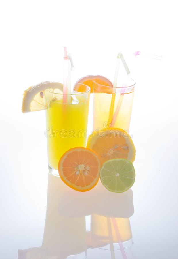 Fruit juice and fruits royalty free stock photo