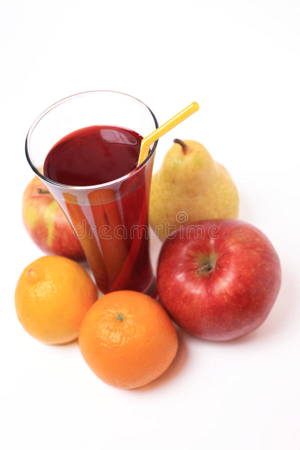 Fruit and juice glass royalty free stock photos