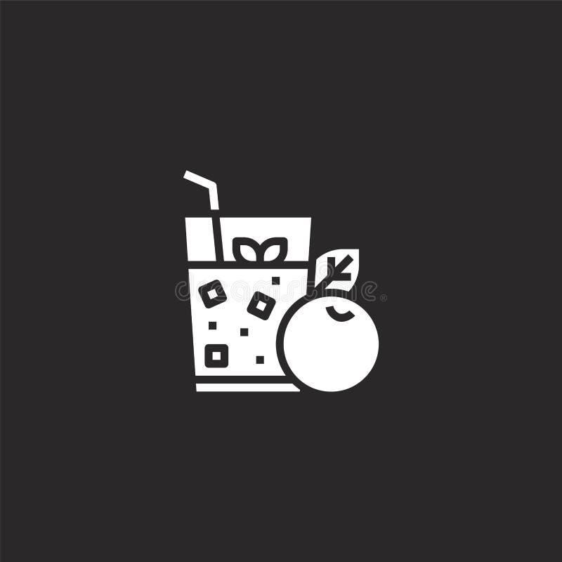 Fruit Juice Icon Gevuld vruchtensappictogram voor websiteontwerp en mobiel, app ontwikkeling vruchtensappictogram van gevulde gez royalty-vrije illustratie