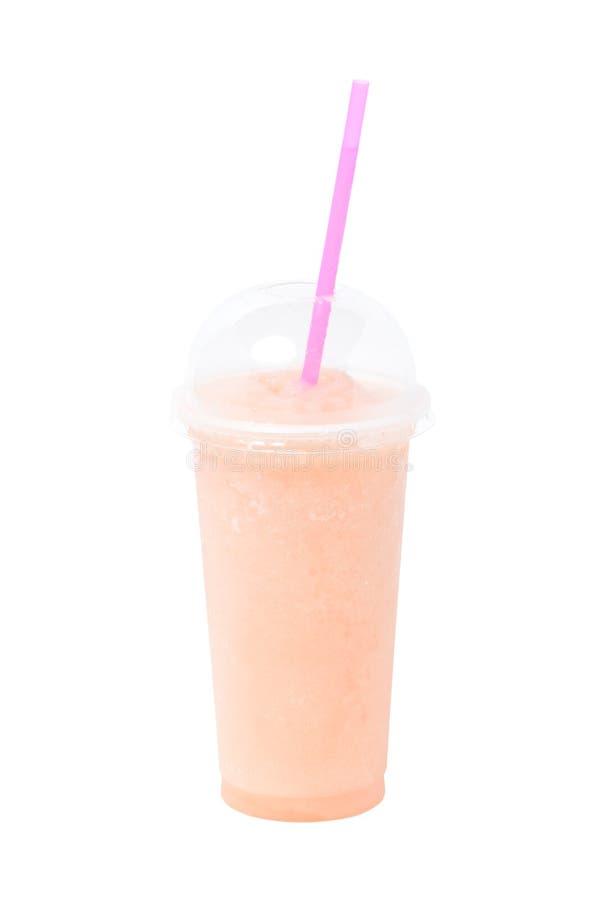 Fruit Juice In Plastic Glass. royalty-vrije stock afbeeldingen