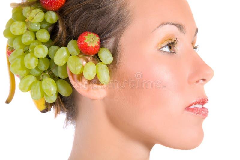 Fruit lady royalty free stock photos