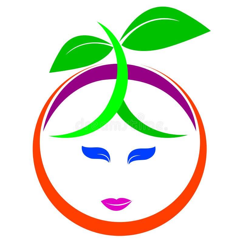 Fruit logo royalty free illustration