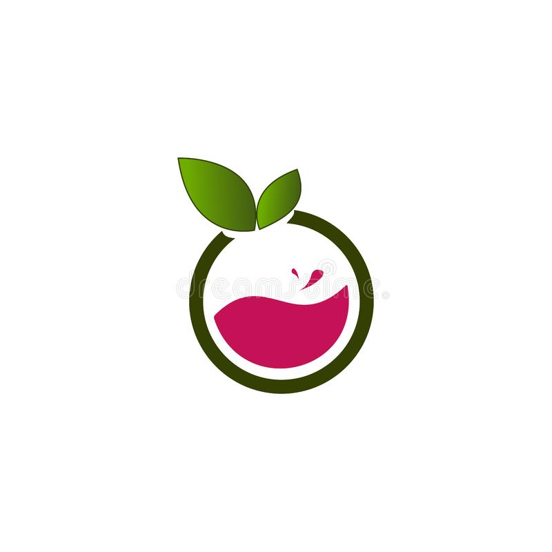 Fruit logo creative design vector illustration royalty free illustration