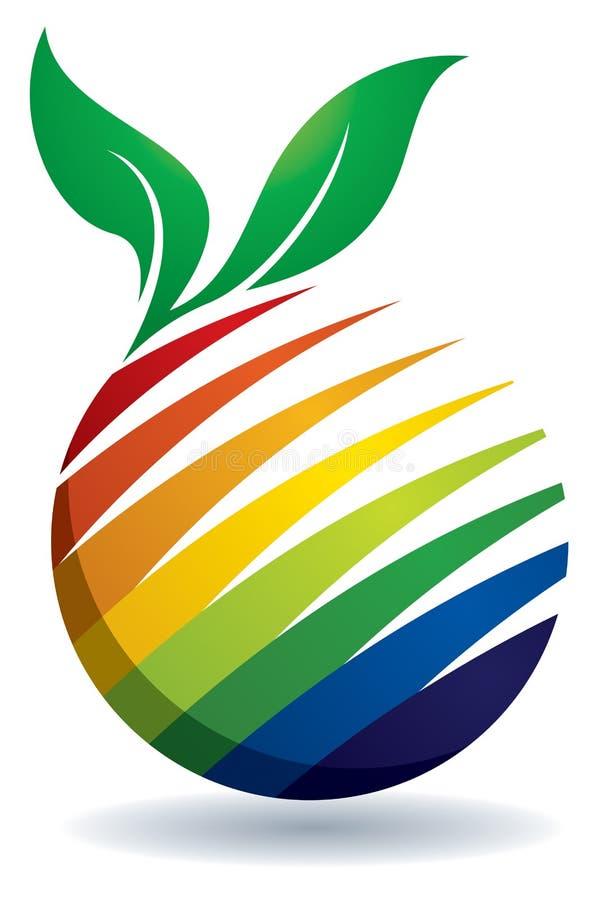 Fruit Logo. An illustration of a colourful fruit logo icon vector illustration