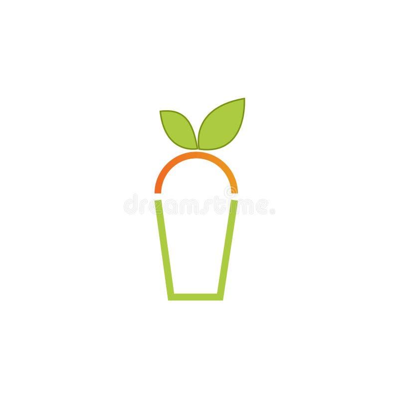 Fruit juice simple minimal logo design illustration stock illustration