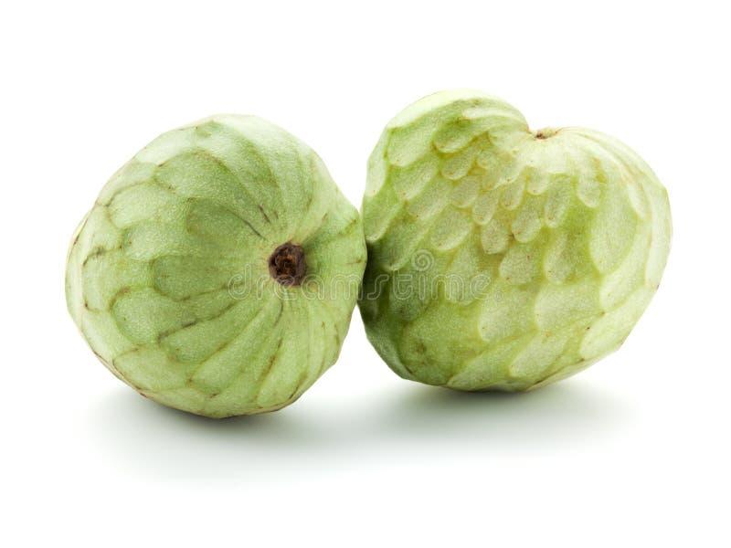 Fruit mûr de chérimolier d'isolement sur le blanc photo stock