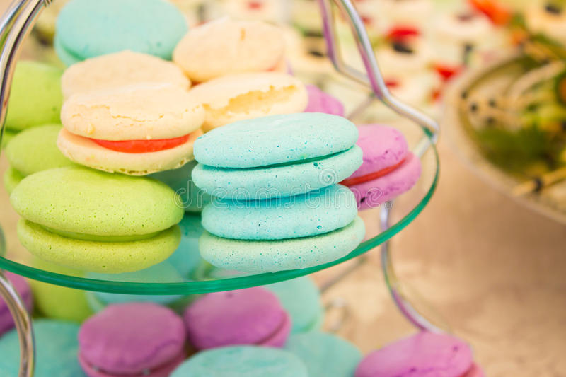 Fruit Macarons royalty free stock photos