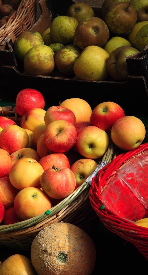 Fruit in a market stock photos