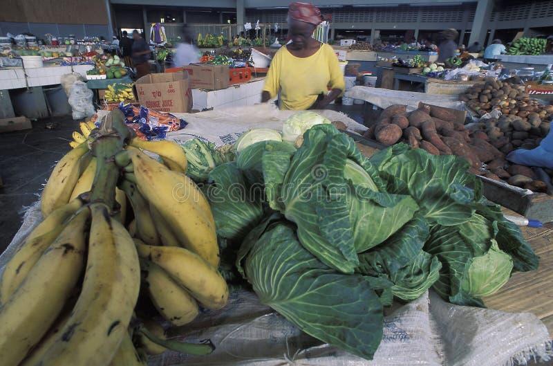 Fruit market, Tobago. stock photo