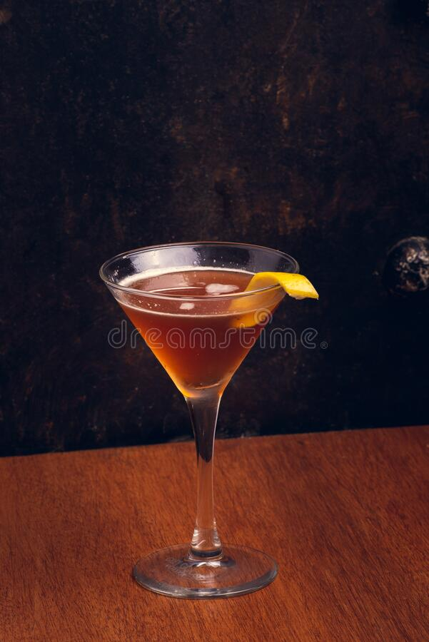 Free Fruit Martinis On Rustic Background With Space For Text. Vertical Shot Stock Photos - 190061323