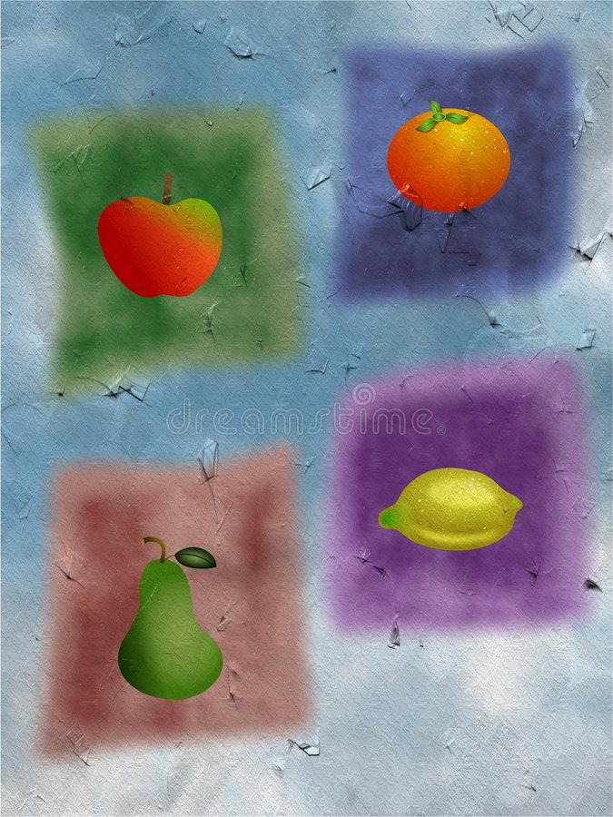 Fruit medley stock illustration