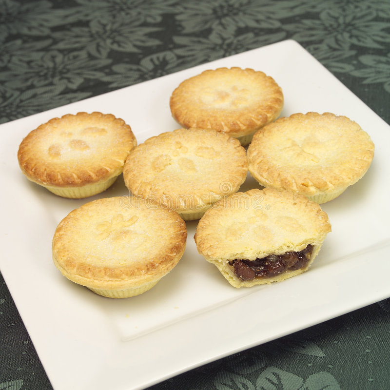 Fruit mince pies stock image