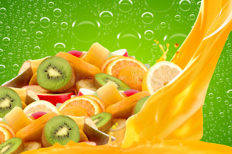 Fruit mix stock photos