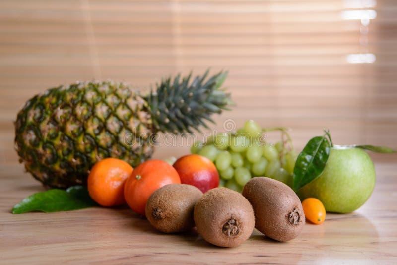 Fruit mix. Set of different fresh fruits stock photos