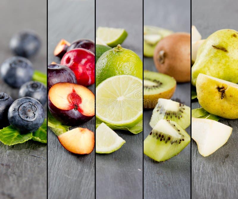 Fruit Mix Stripes stock image