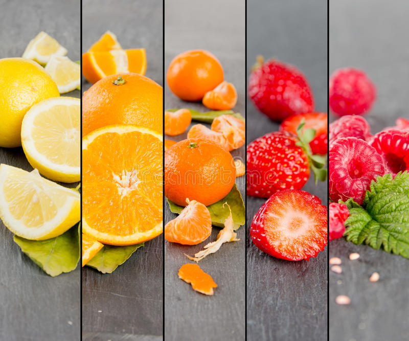 Fruit Mix Stripes royalty free stock photos