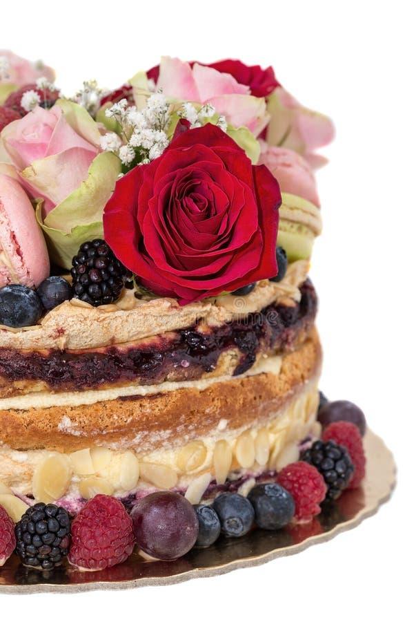 Fruit nu et biscuits de gâteau de célébration Plan rapproché photo stock