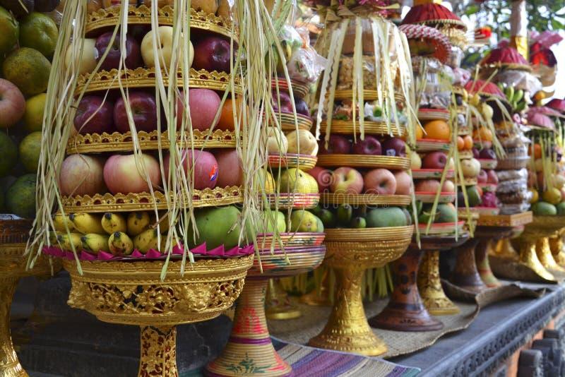 Fruit Offering in Bali. Fruit Offering in Street Bali stock images