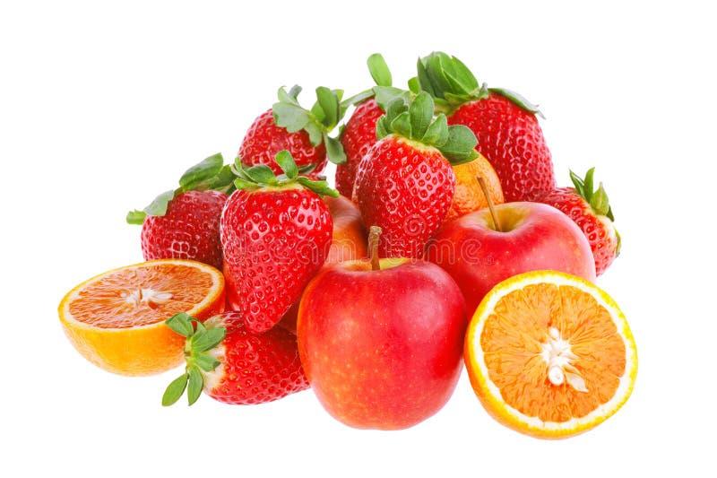Fruit op de witte achtergrond stock afbeelding