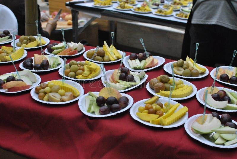 Fruit op schotel royalty-vrije stock foto