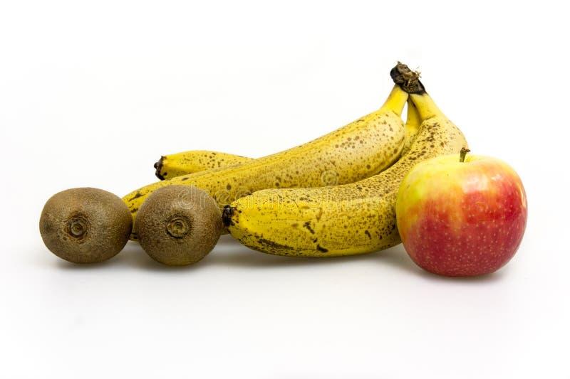 Fruit op witte achtergrond stock afbeelding
