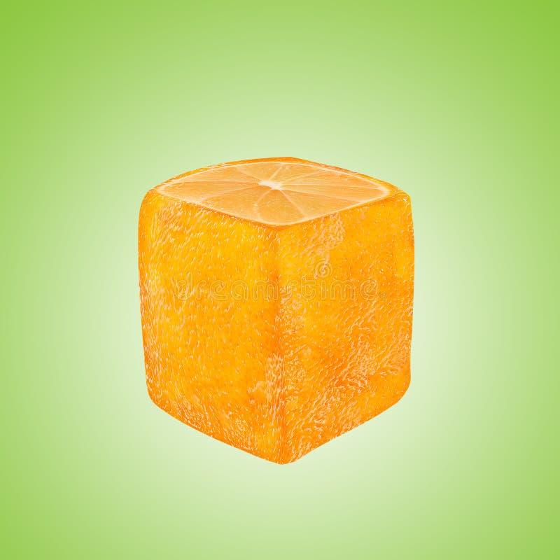 Fruit orange carré abstrait illustration stock