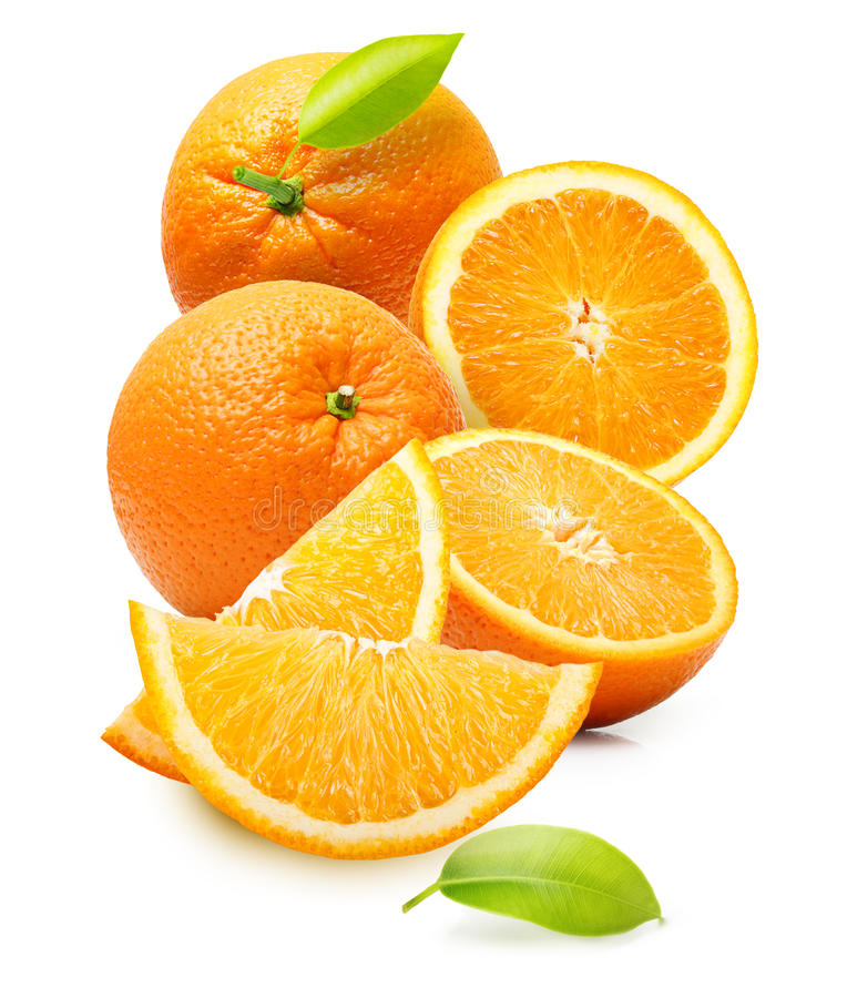 Fruit orange d'isolement images libres de droits
