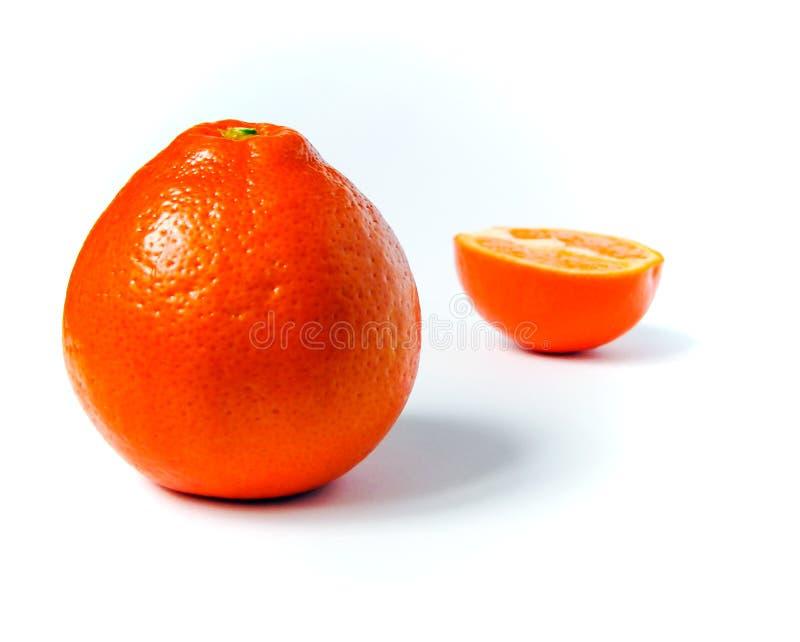 Fruit orange d'isolement sur le fond blanc photos libres de droits