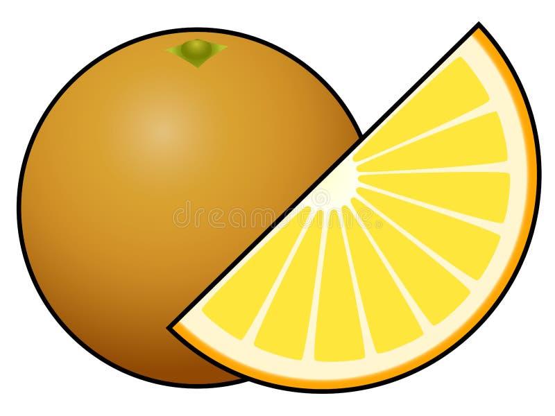 Fruit orange d'isolement sur le fond blanc illustration libre de droits
