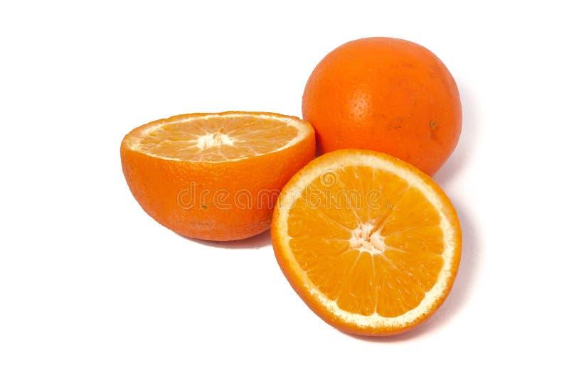 Fruit orange d'isolement sur le fond blanc photos stock
