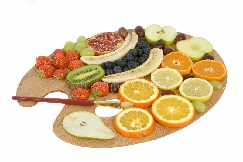 Fruit palette stock photography
