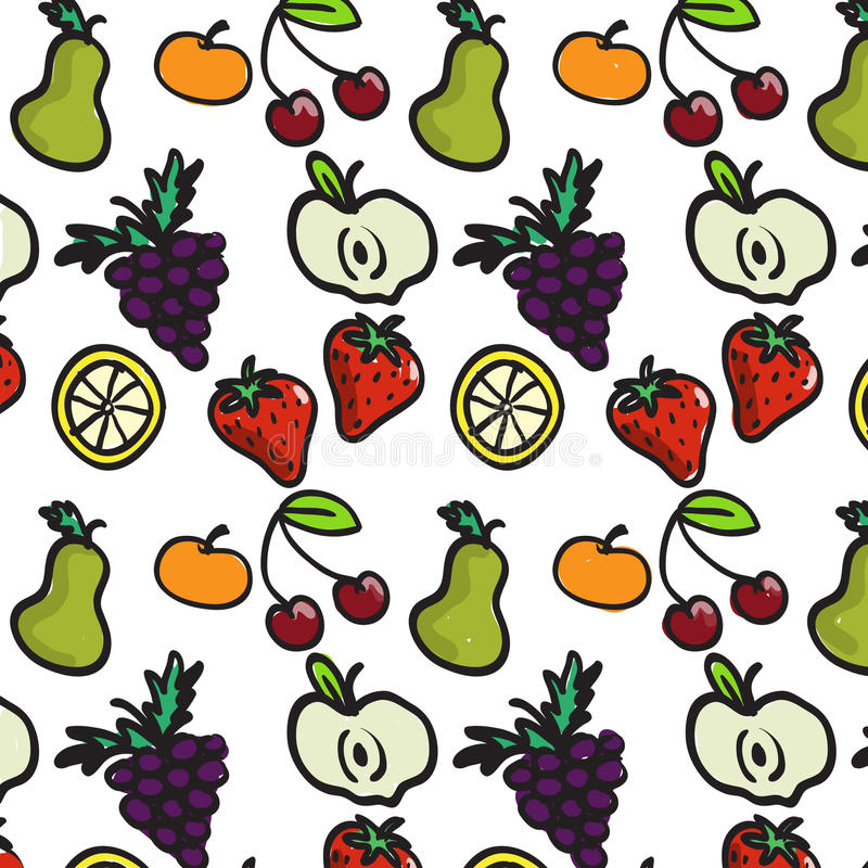 Download Fruit pattern stock vector. Image of retail, orange, repeated - 14875361