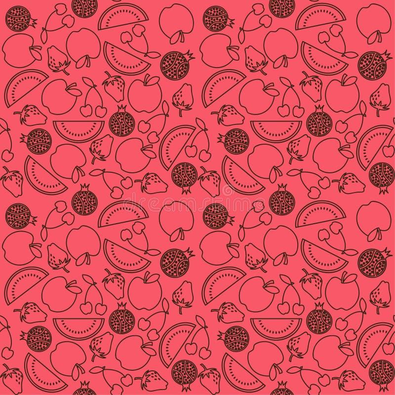 Fruit pattern. Decorative fruit pattern illustration vector illustration