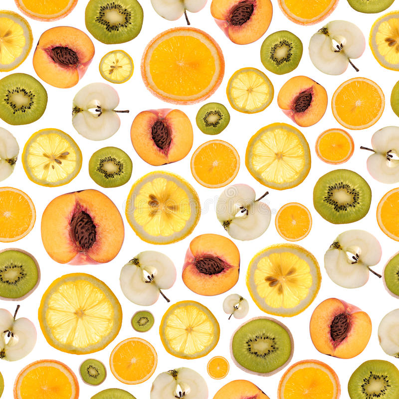 Fruit pattern. On the white background stock photo